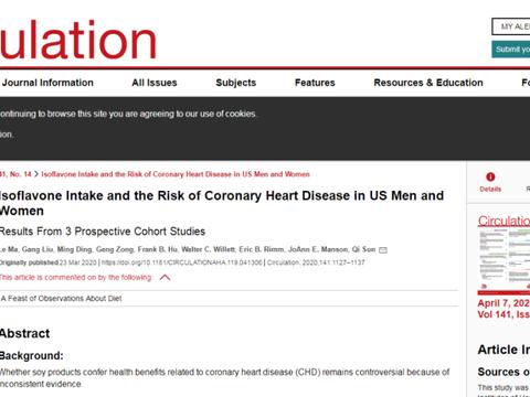 中美一项涉20万人联合研究:常吃豆腐可降低冠心病风险
