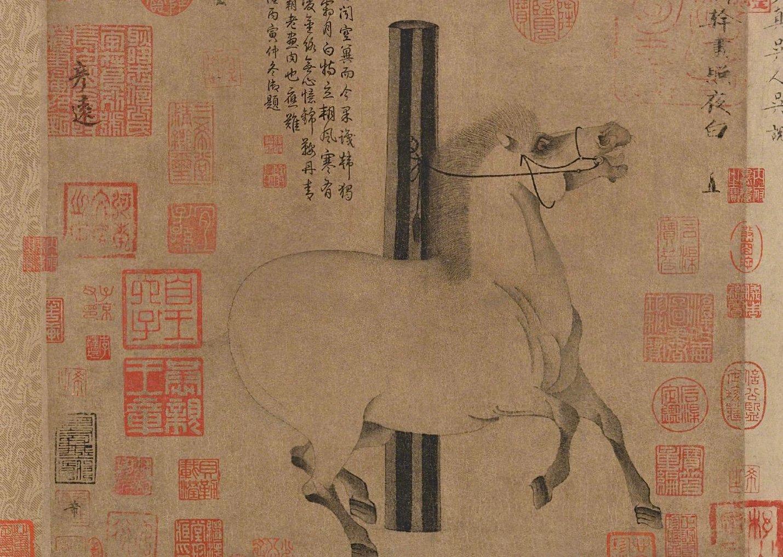 唐玄宗心爱之物《照夜白图》,现藏于大都会艺术博物馆