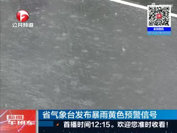 《新闻午班车》省气象台发布暴雨黄色预警信号