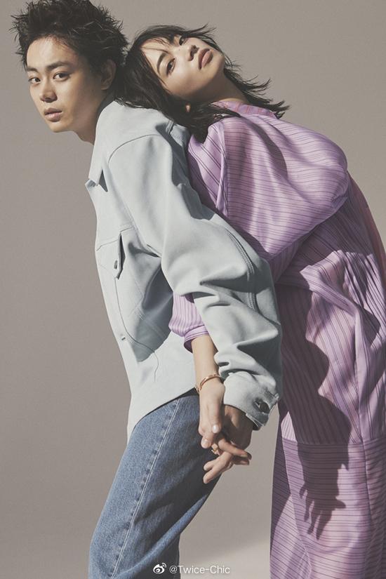 菅田将晖 & 小松菜奈 x 装苑 5月号内页   苏打与Nana,无需眼神