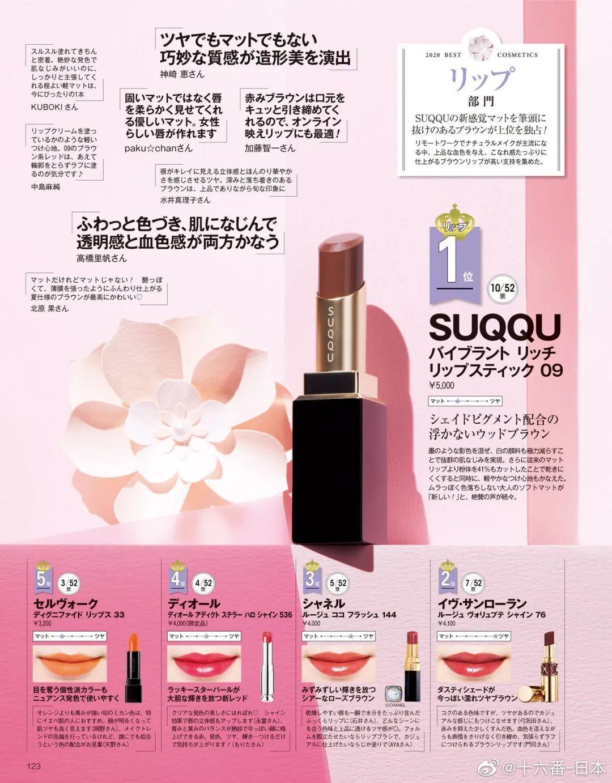 日本美容杂志《美的》上半年最佳彩妆大赏