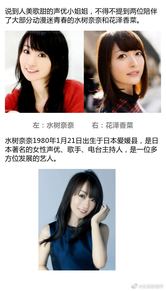 Double暴击!日本声优女神花泽香菜、水树奈奈相继宣布结婚!