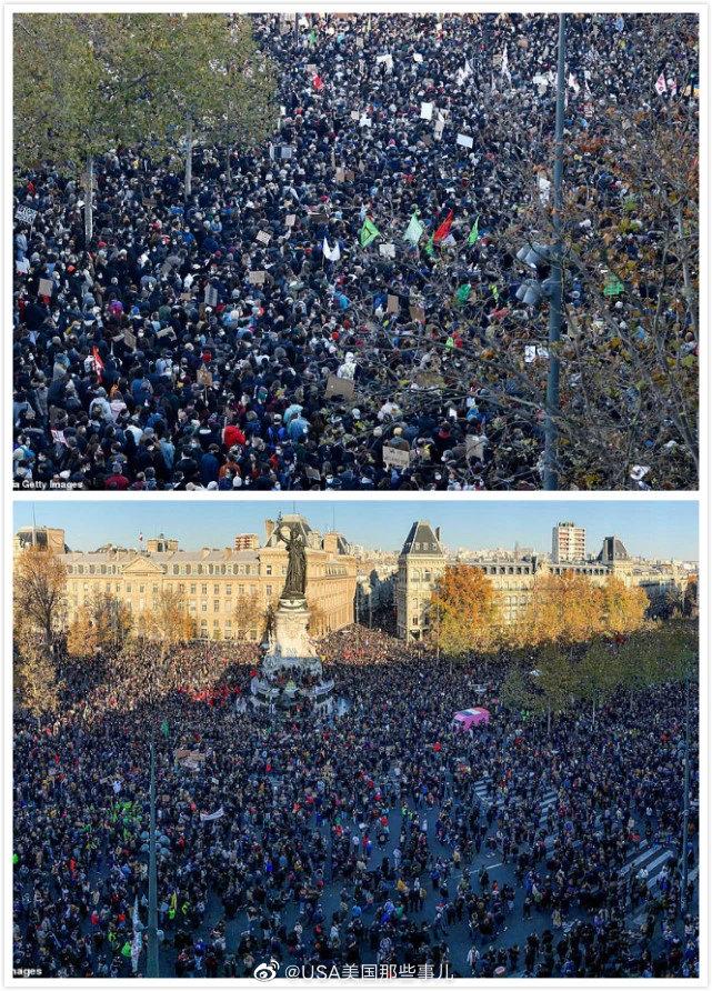 法国多地爆发抗议