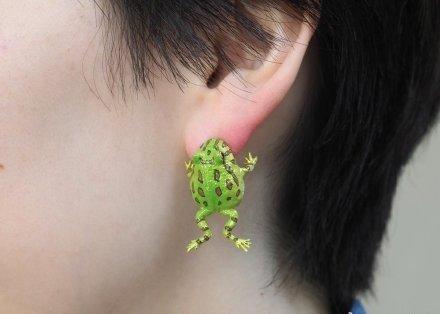 青蛙耳环、脚腕包、苹果皮手表、香烟耳环、耳机耳环、 方便面包包、