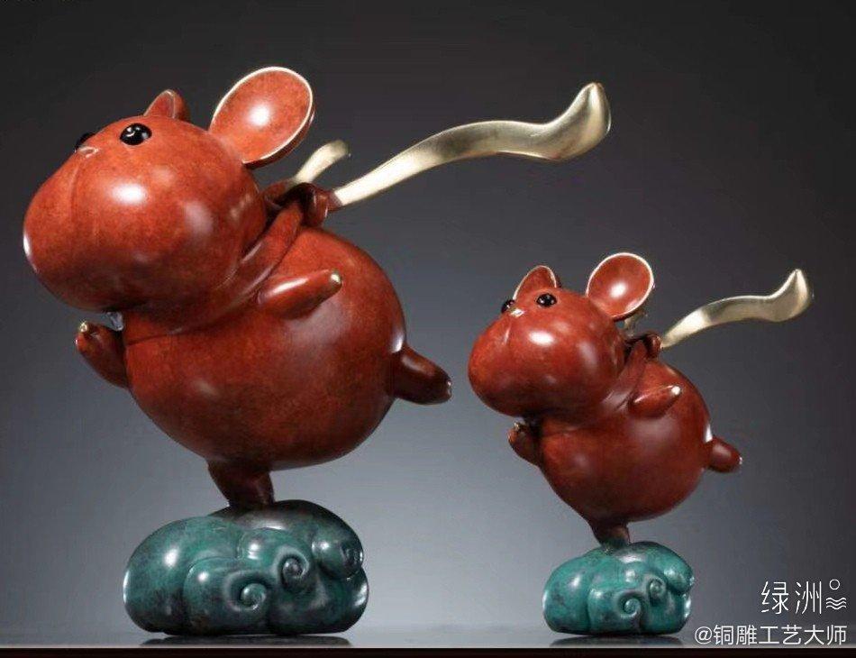 朱炳仁·铜 消小小飞鼠 呆萌的动物很多,呆萌的老鼠🐭很少