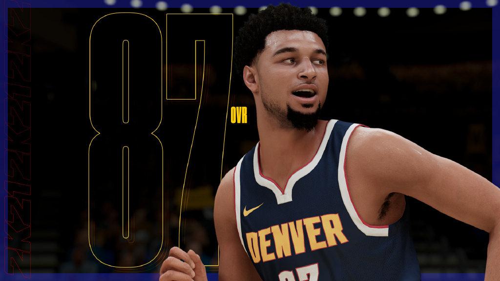 NBA2K21能力值,穆雷87,米切尔和戈贝尔双人组分别为88和87