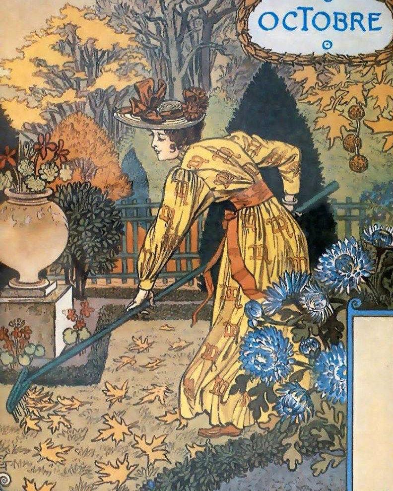 拟人月份:法国新艺术画家Eugène Grasset(1845-1917)
