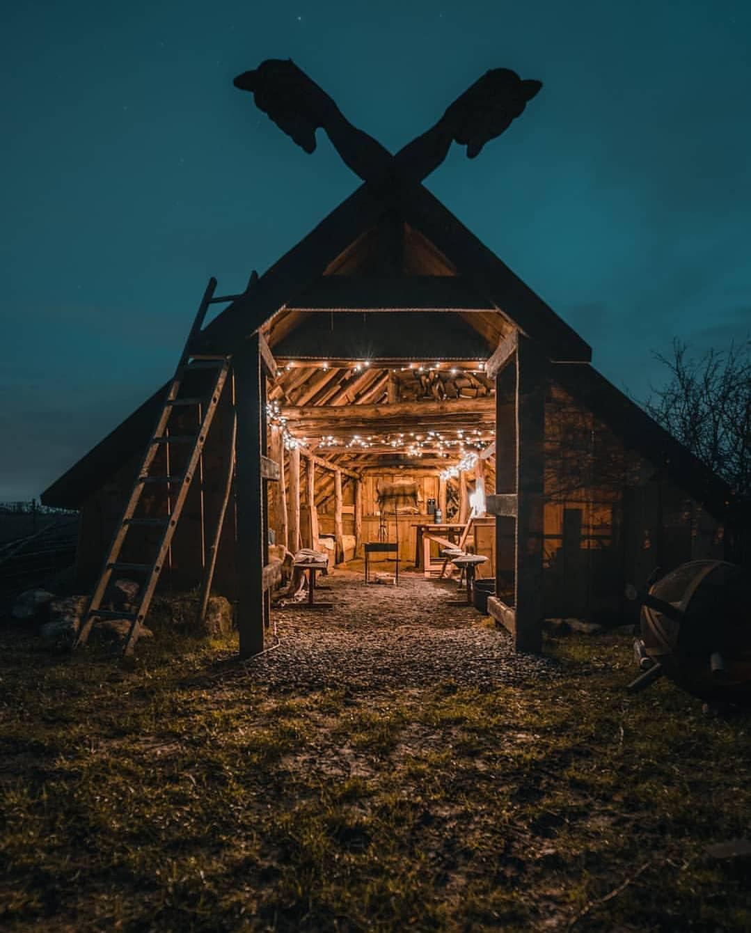 森林小木屋里的悠闲时光✨