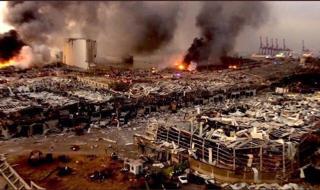 黎巴嫩大爆炸现场,死伤人数已经超过4000,一片狼藉,仿佛世界末日