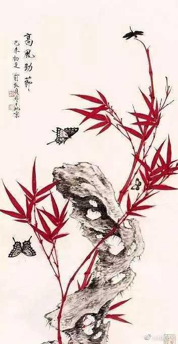 俞致贞的花鸟画,色彩浓丽不失清雅,生动富有灵气