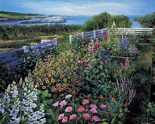 我想有一座静谧的房子,有一片秘密的花园。丨来自画家Susan Rios。