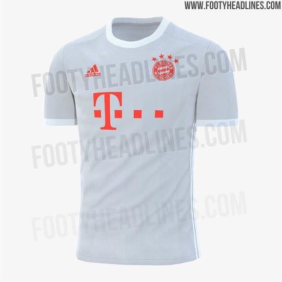 Footyheadline曝光了新赛季拜仁慕尼黑客场球衣的谍照