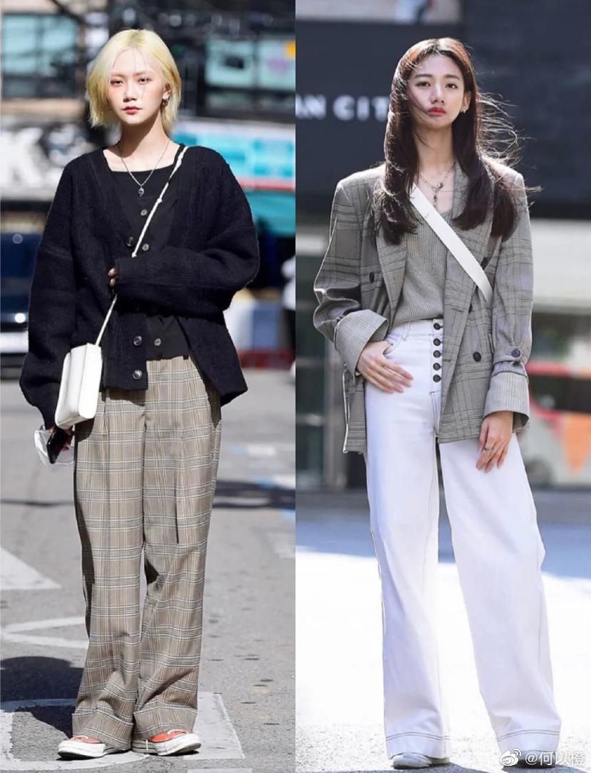 韩国首尔街拍 时尚秋冬穿搭灵感 棒球帽出镜率比较高勥帆布鞋也很耐搭