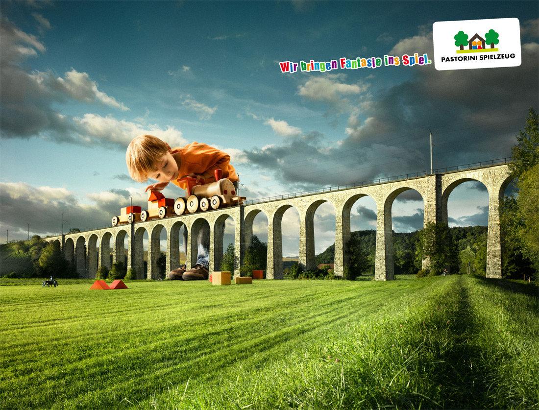 玩具商店的宣传广告-带孩子进入游戏梦幻世界