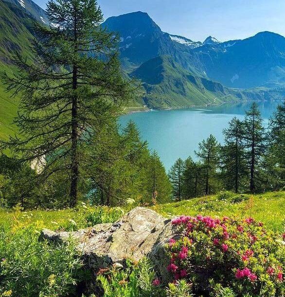 瑞士阿尔卑斯山下的seealplsee湖,如诗如画的地方。