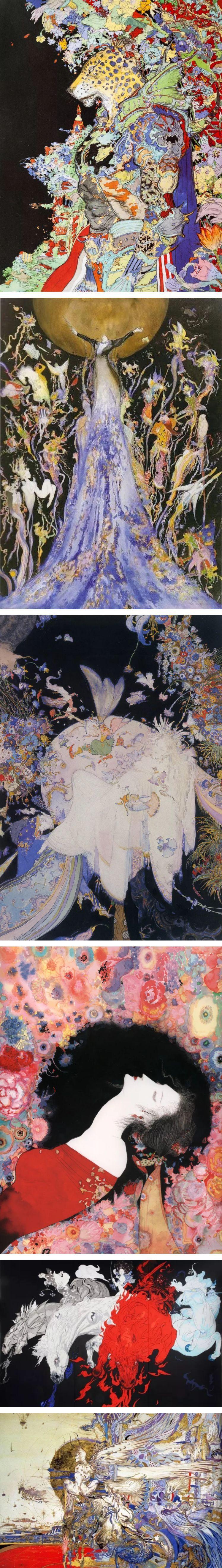 西方幻想与东方古典结合的绮丽画风,日本顶级大师天野喜孝的梦幻世界