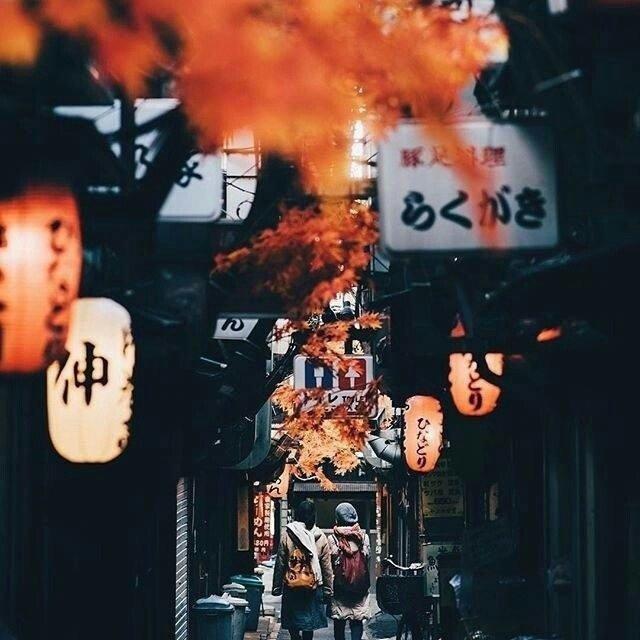 日本街道,浓郁的民族之味,想和喜欢的人牵手走一遭。