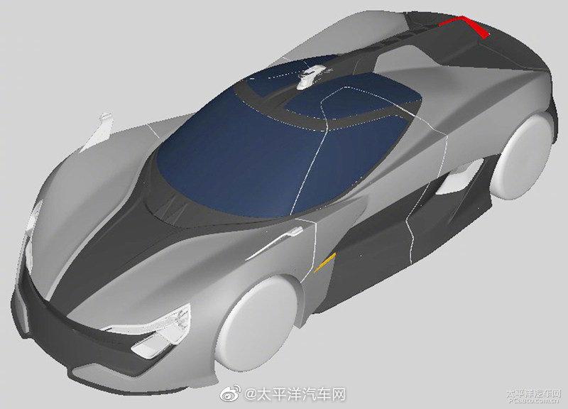 香港APEX(亚帕斯)新能源汽车在大陆注册了一组新车AP-0的外观专利图