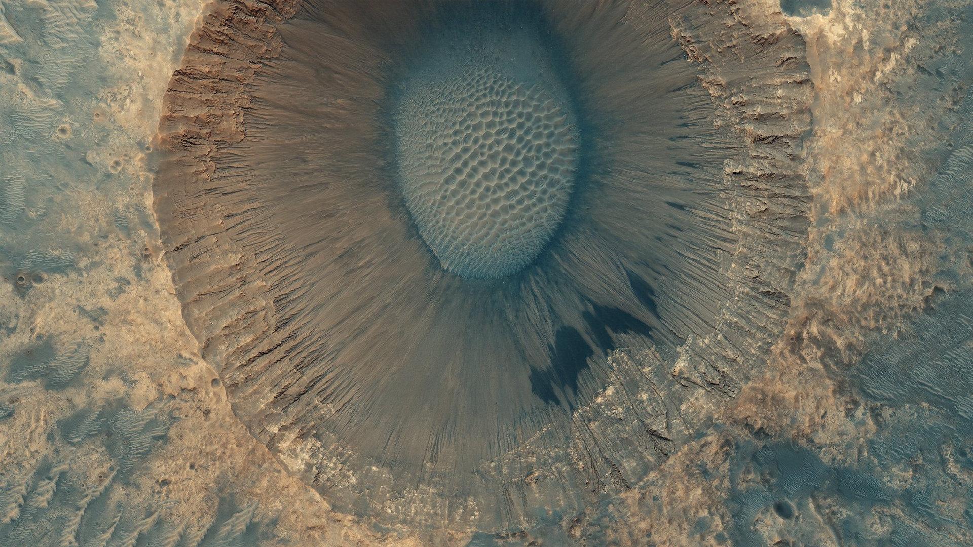 NASA火星勘测轨道飞行器上的HiRISE相机拍摄的火星表面