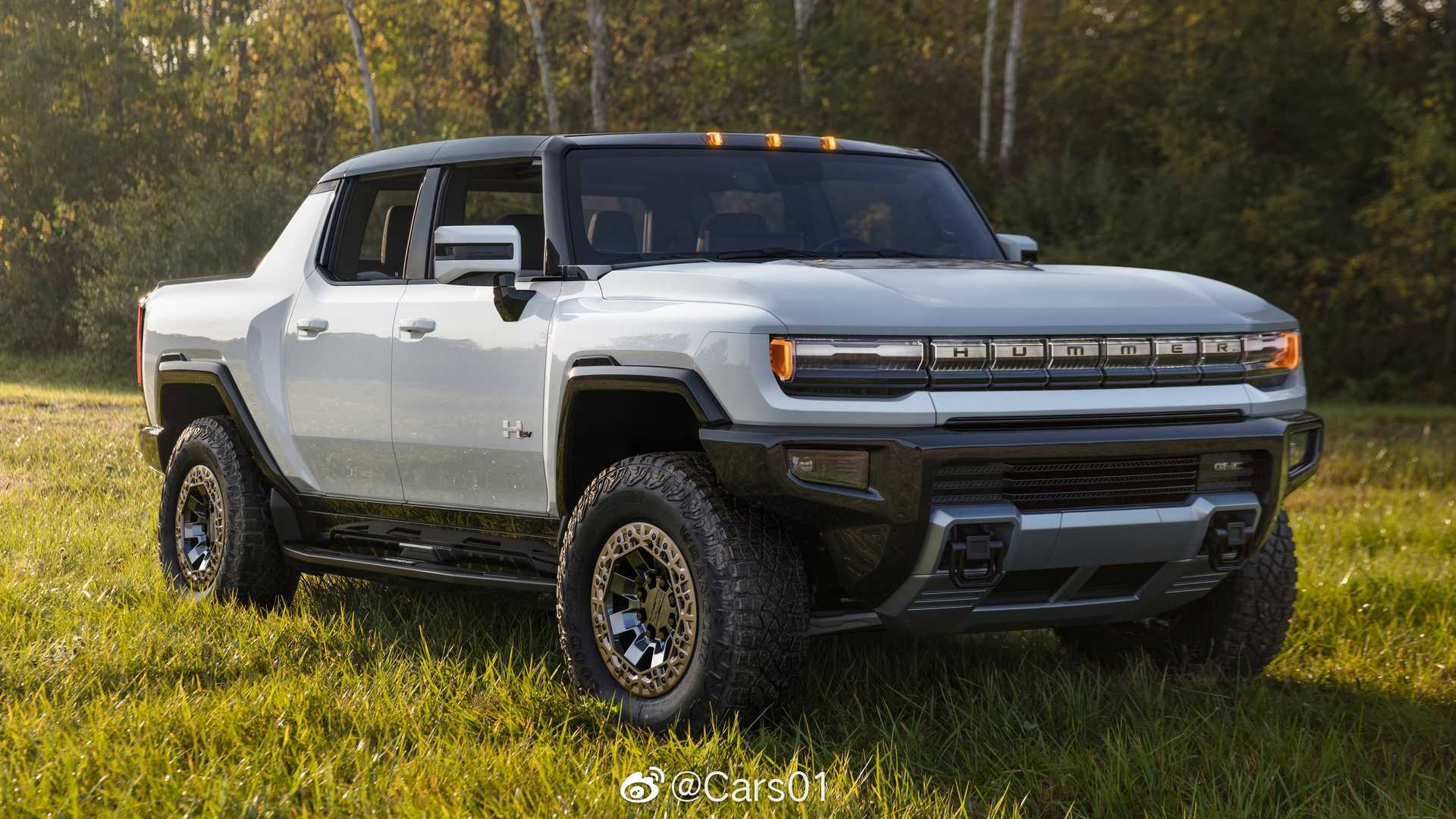 GMC悍马EV官图发布,新车的外观和内饰采用全新硬派设计风格