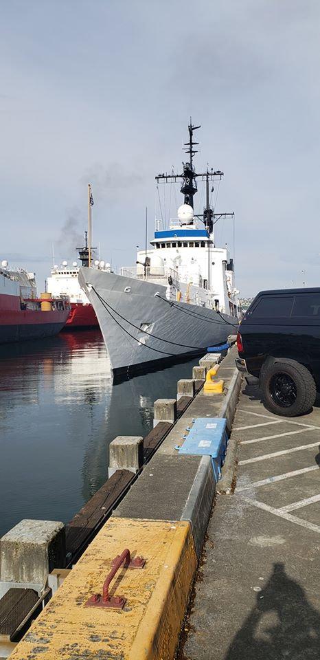 """准备移交越南海军的前美国海岸警卫队""""汉密尔顿""""级巡逻舰""""约翰·梅"""