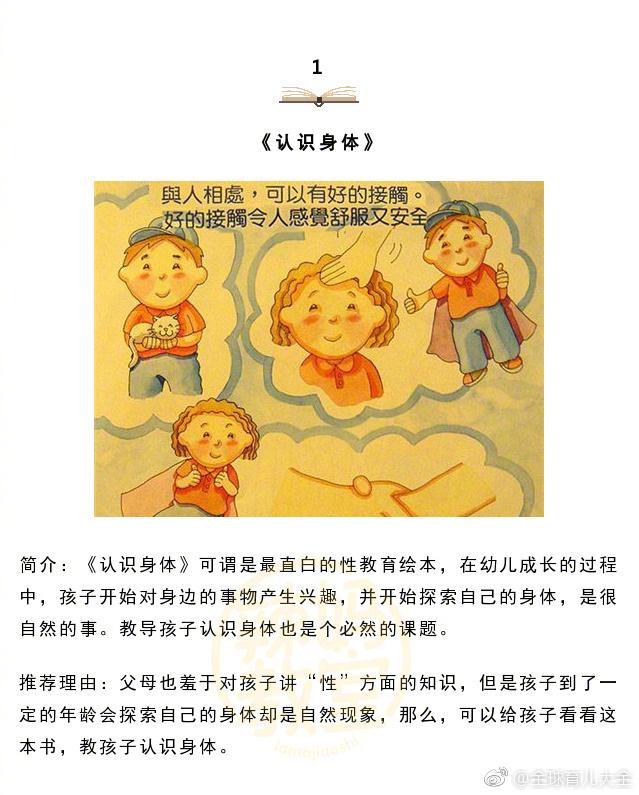 关于幼儿性教育的绘本