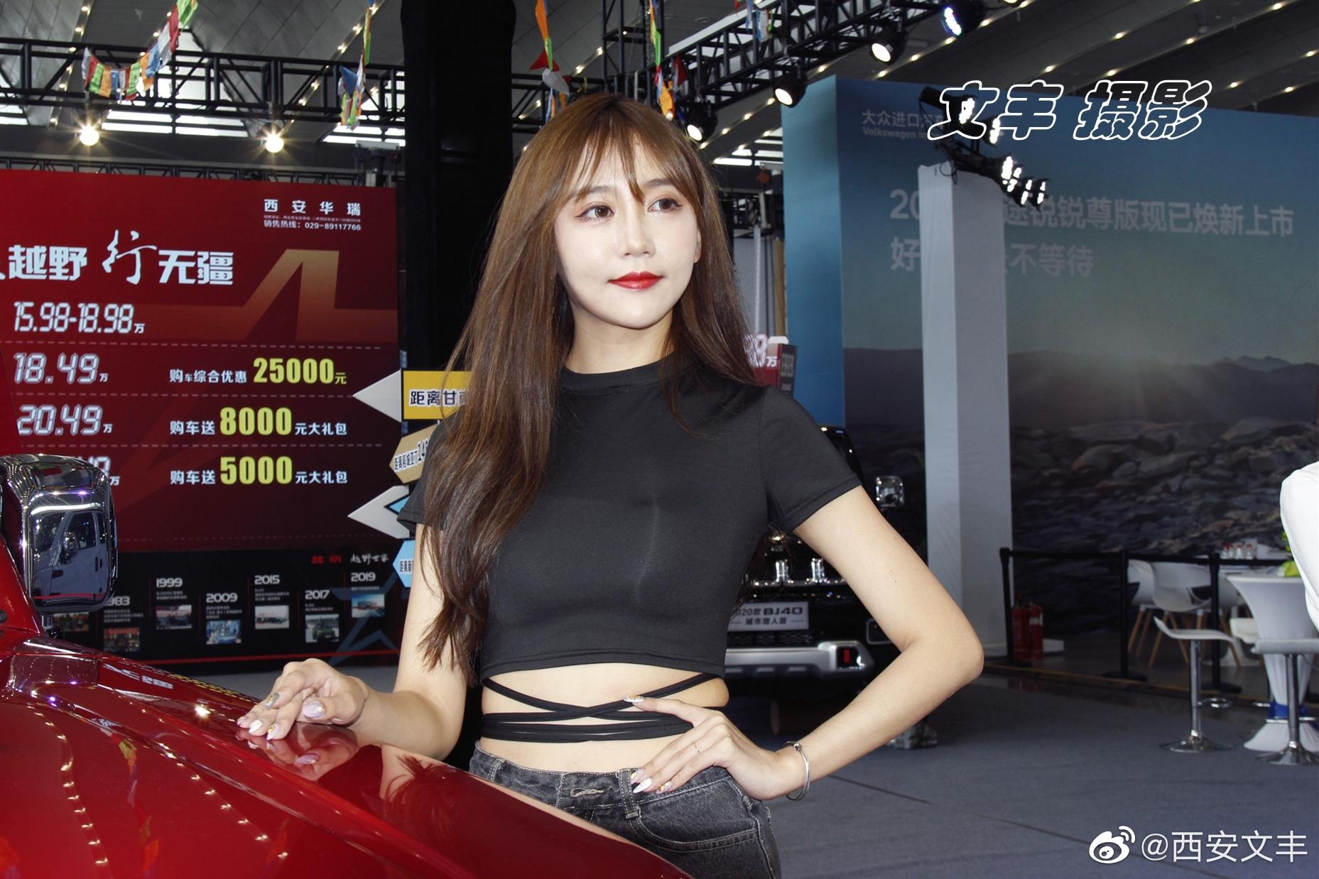 西安暑期车展:北京越野车模
