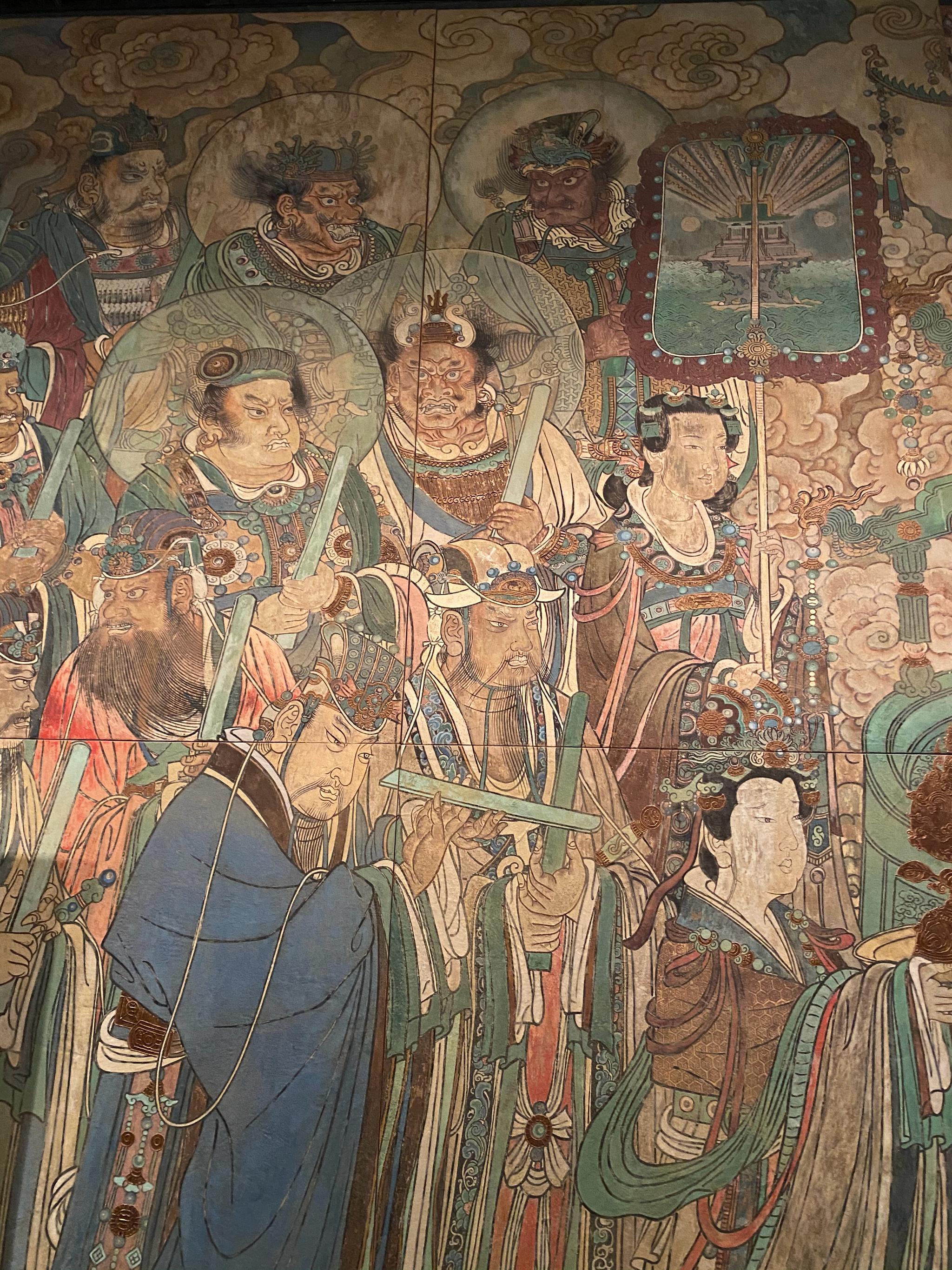 运城博物馆里,有展出永乐宫元代壁画1:1的高清复制品