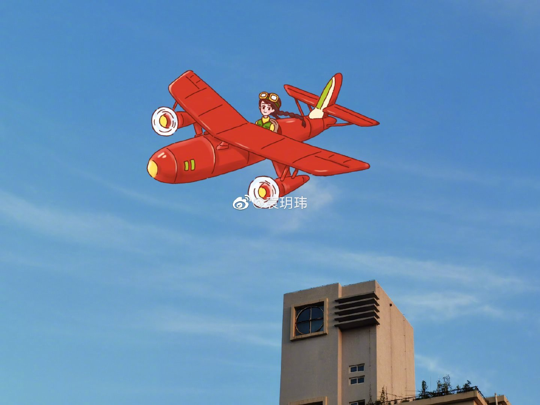 中国劳动关系学院的校园里我想象成了童话镇,抬头看看天空
