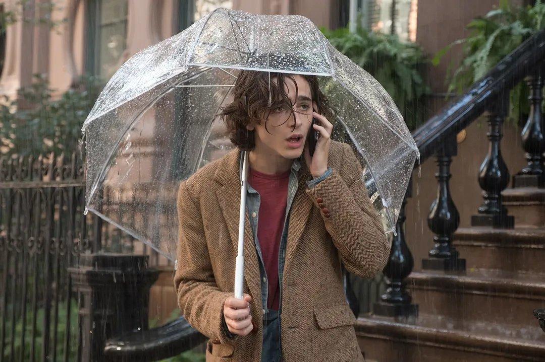 《纽约的一个下雨天》影院上映宣传海报,我的甜茶