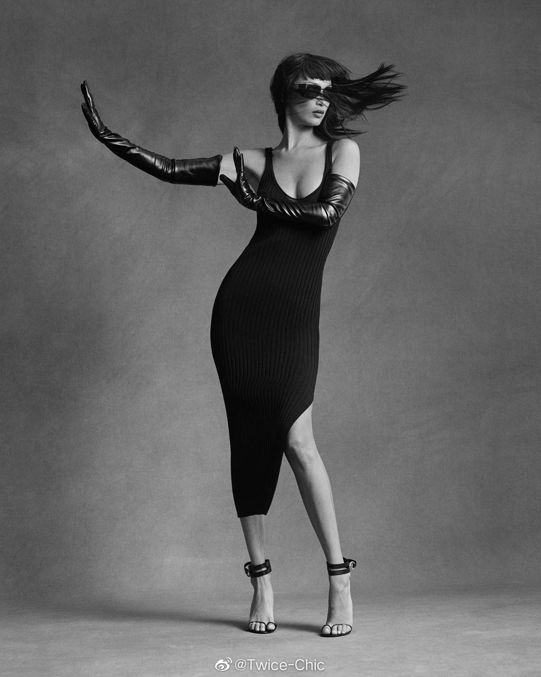 Bella Hadid for Helmut Lang Pre-Fall 2020 🖤