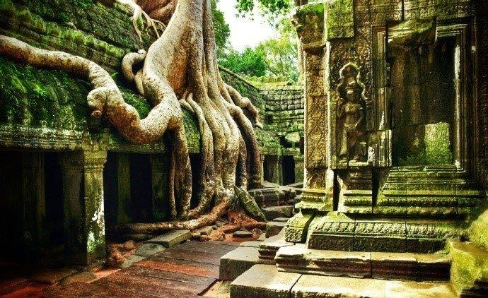 吴哥窟(Angkor Wat)位于柬埔寨西北部,被称作柬埔寨国宝