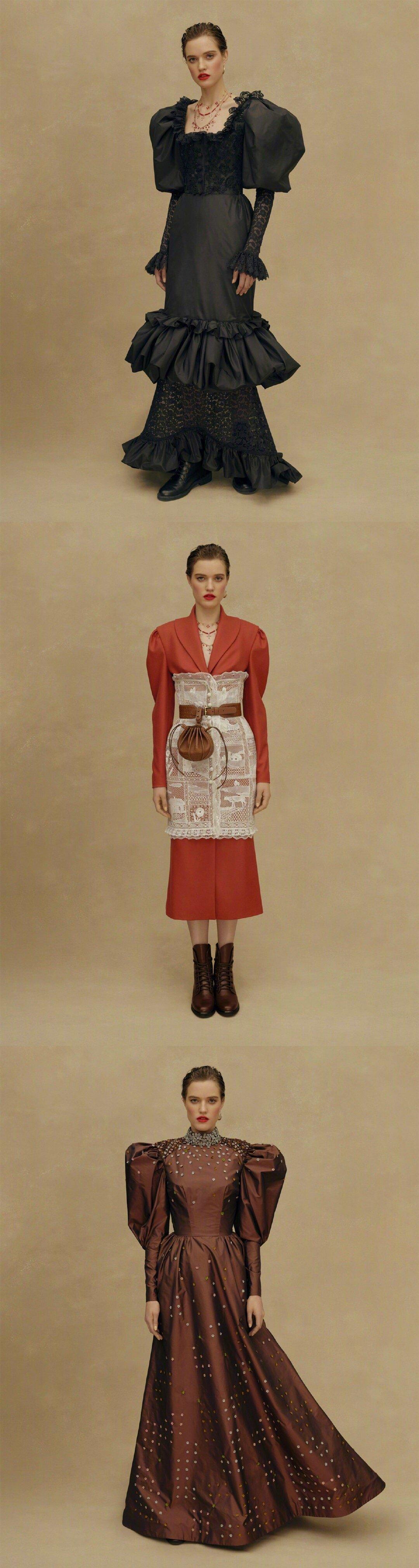 Ulyana Sergeenko Couture S/S 2019 哥萨克风情的礼服合集