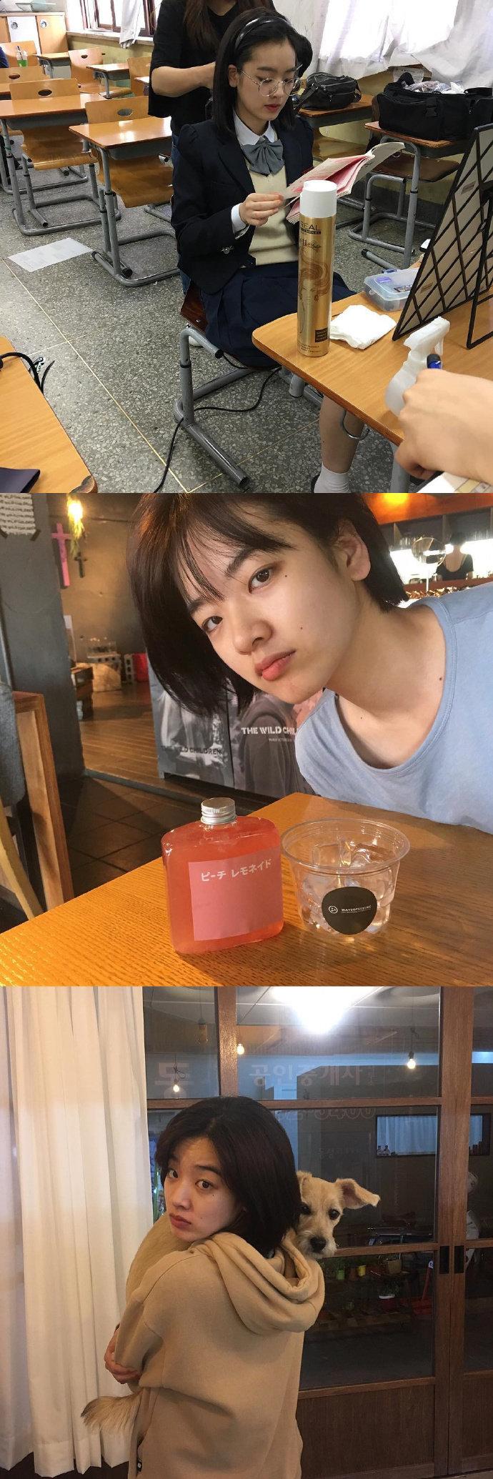 梨泰院class里的马贤丽欧尼李珠英 私照简直帅一脸.