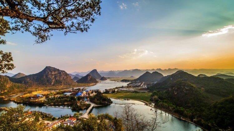 云南普者黑一个风土人情和景色都很秀美的地方