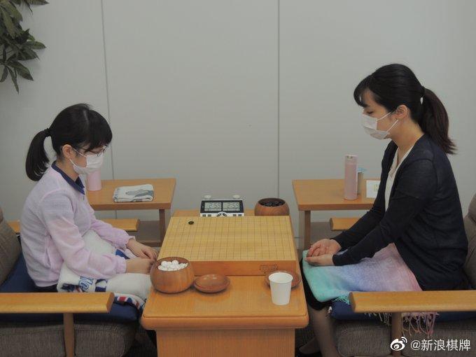 扇兴杯预赛决赛在关西棋院打响,出口万里子初段对阵仲邑菫初段