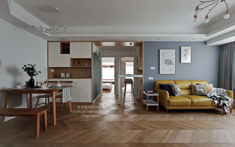 89㎡简约北欧风格住宅丨孔杰室内设计