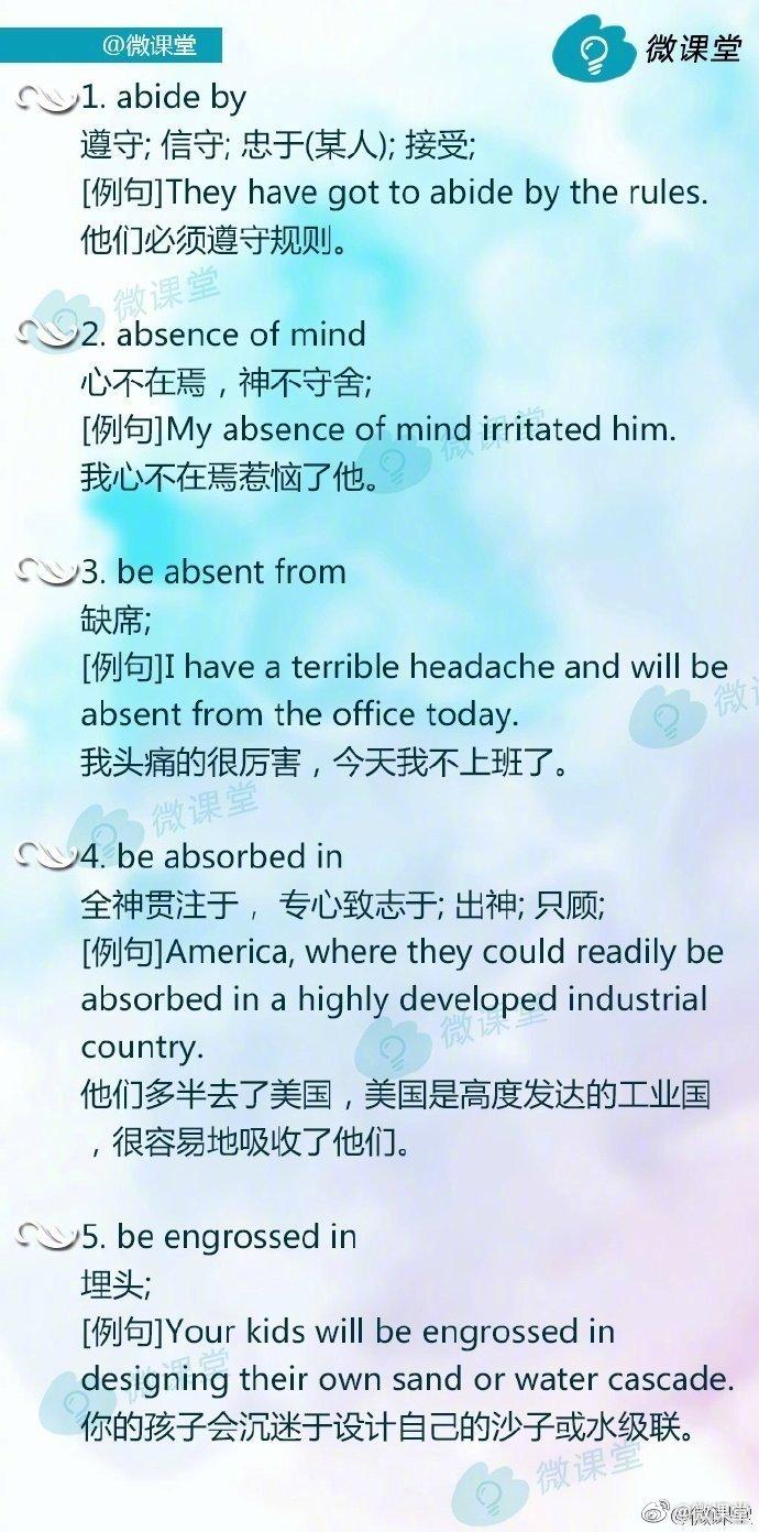 考研英语真题中常出现的高频短语!这个一定要速速收藏