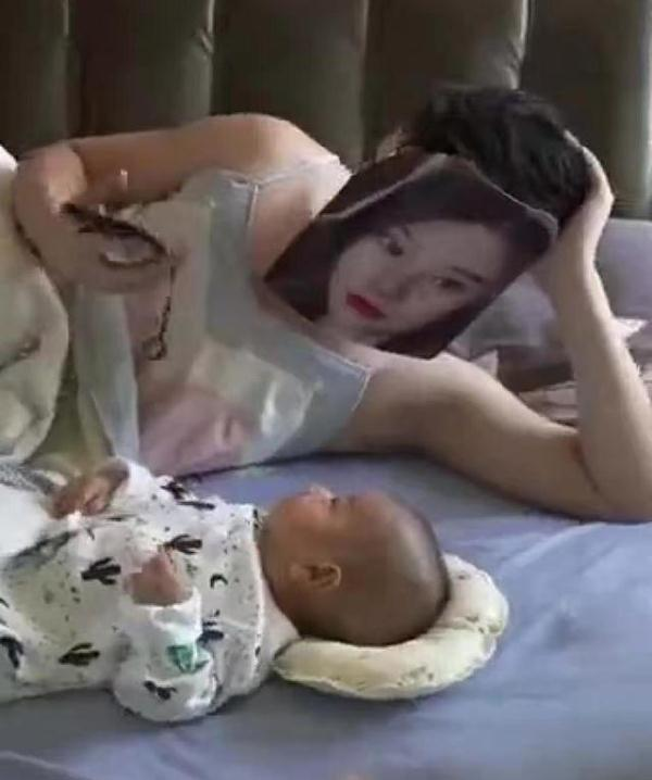 爸爸独自在家带娃,宝宝哭闹找妈妈,爸爸的做法获网友一致好评
