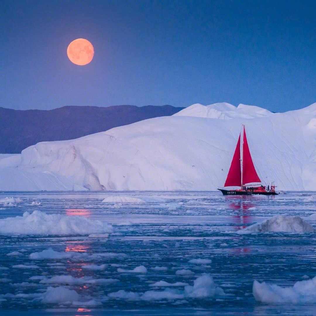 格陵兰的月色。ins:albertdrosphotography
