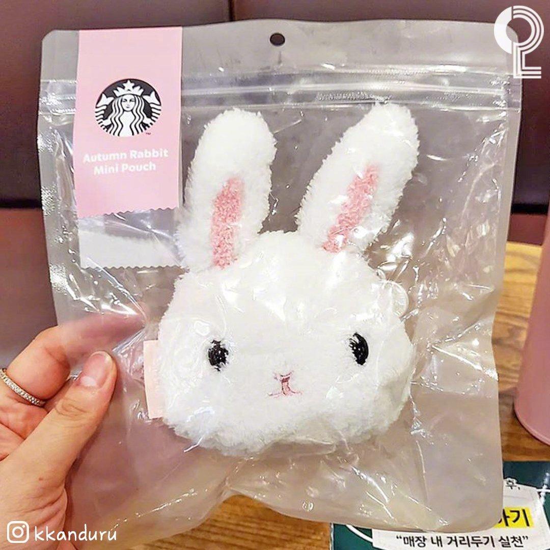 韩国星巴克今年的中秋限定周边~~小兔子迷你零钱包