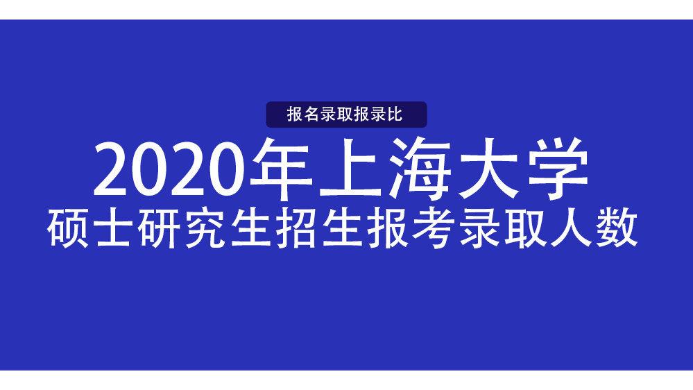 上海大学 2020 年硕士研究生招生报考录取人数