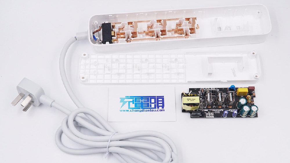 拆解报告:米家三USB-A口27W快充延长线插座MJCXB02QM