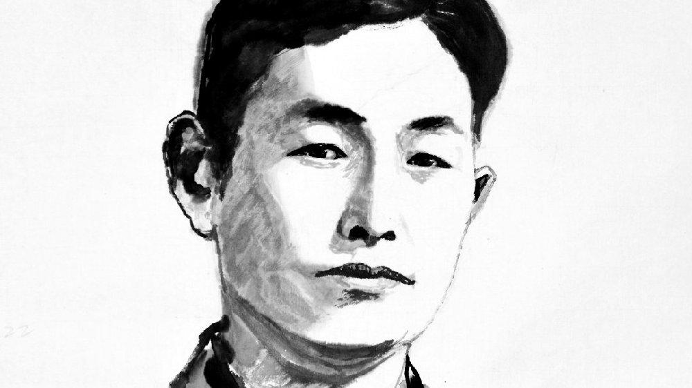 《中国百年文化巨匠水墨肖像》——聂耳