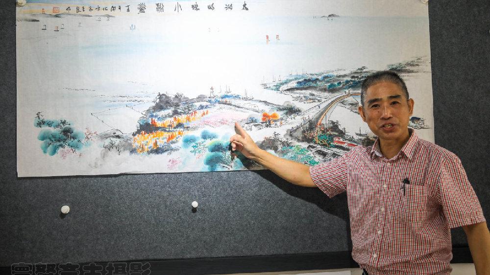 无锡南方泉的画家王刚良,五年的时间画出了壮丽的画卷太湖十八景