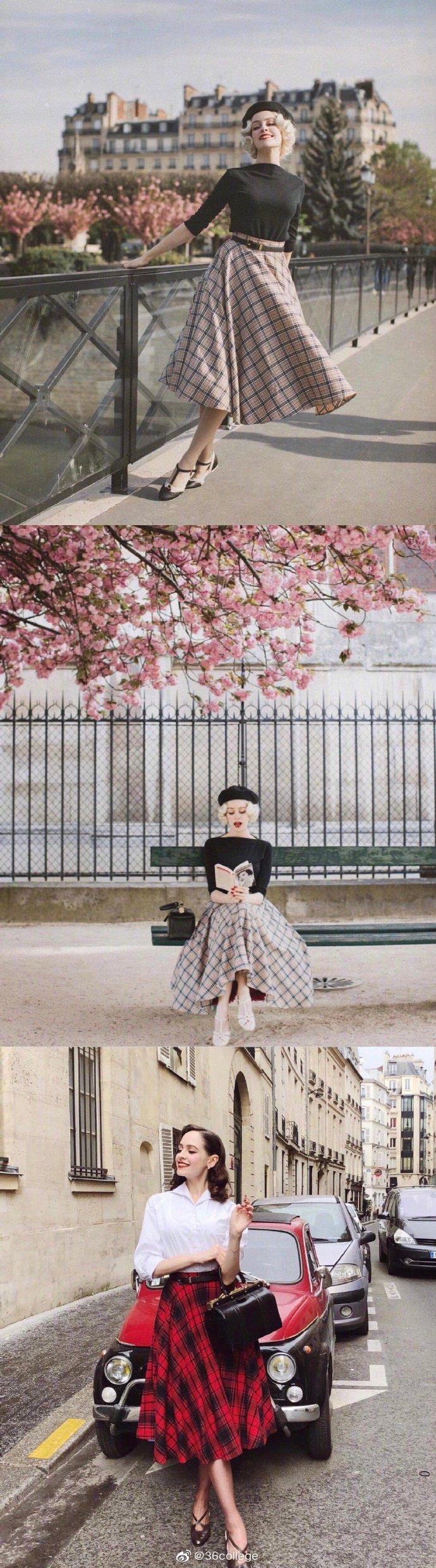Daria Nelson复古穿搭也太美了吧!