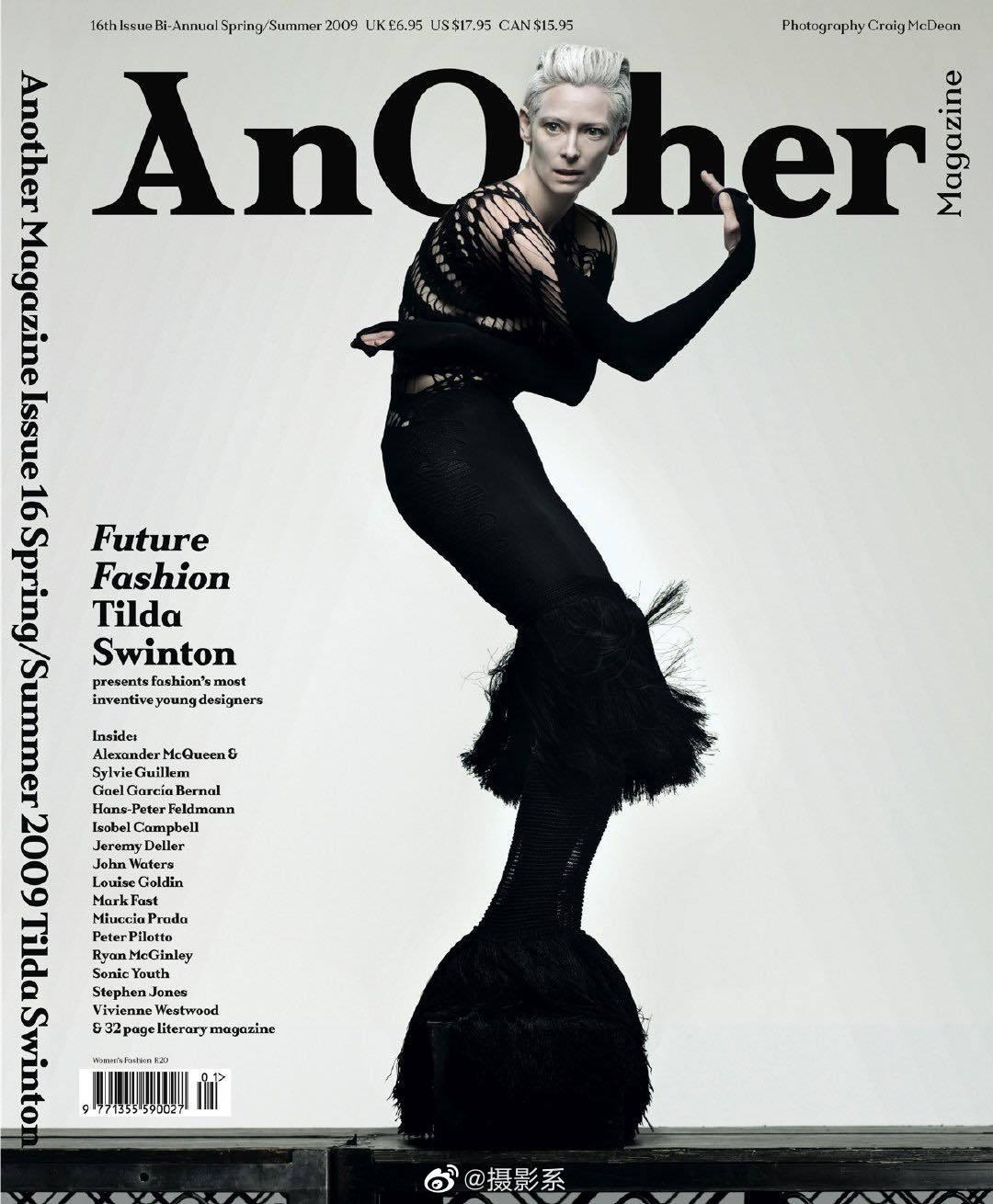 Tilda Swinton 在2009 AnOther Magazine 春夏号中的这组照片美翻天