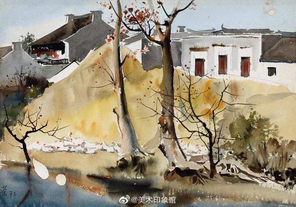 吴冠中早期的水彩画,真美好