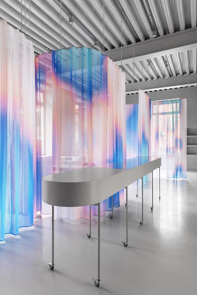 莫斯科,Sfera美容联合办公空间,灵感来自于热图