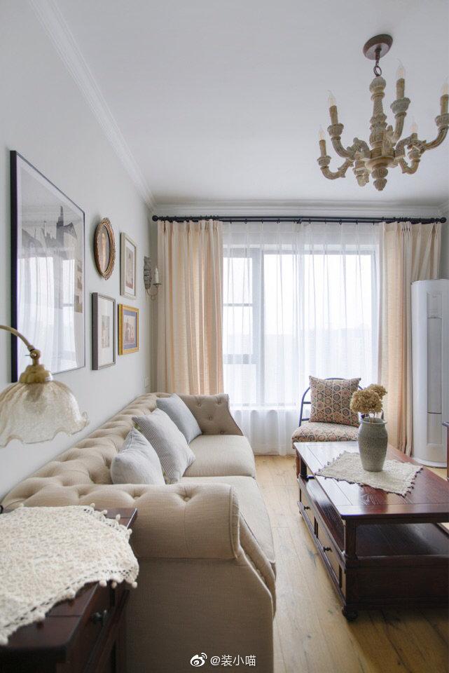 81平三室,自然清新的气质,优雅的韵味。浪漫的复古情怀